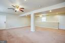 Lower Level Family Room - 5514 S BRANCH RD, FREDERICKSBURG