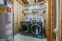 Lower Level Laundry Room - 5514 S BRANCH RD, FREDERICKSBURG