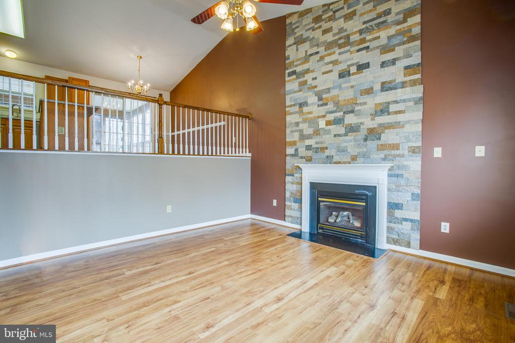 Stunning Gas Fireplace and flooring - 5514 S BRANCH RD, FREDERICKSBURG
