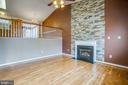 Stunning Gas Fireplace and flooring - 5514 S BRANCH RD, FREDERICKSBURG