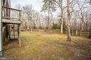 Backyard - 5514 S BRANCH RD, FREDERICKSBURG
