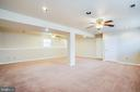 Lower Level Family Room with Garage Access - 5514 S BRANCH RD, FREDERICKSBURG