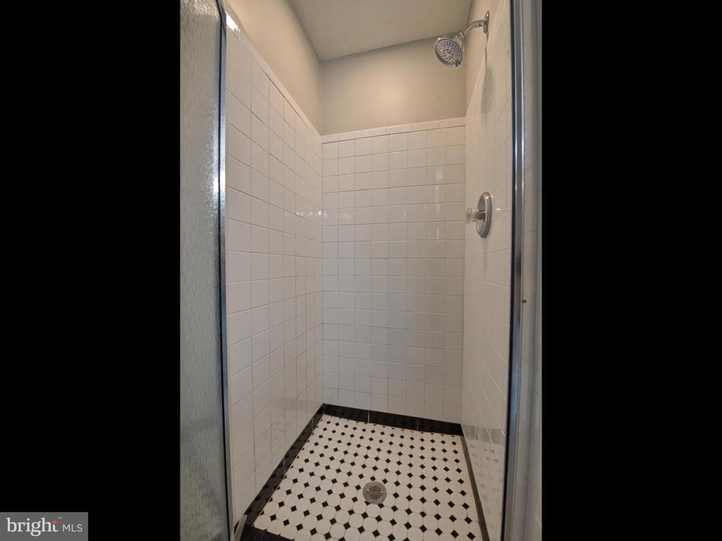 New shower in Master Bath - 6012 CREST PARK DR, RIVERDALE