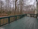 Large 200 sq ft deck - 6012 CREST PARK DR, RIVERDALE