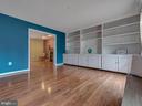 Custom shelves on entire wall! - 6012 CREST PARK DR, RIVERDALE