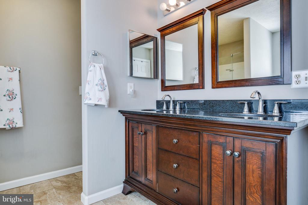 Master bathroom double vanity. - 40 NORTHAMPTON BLVD, STAFFORD