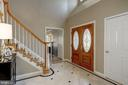 Spacious 2 story foyer greets your guests - 2008 ROUNDHOUSE RD, VIENNA