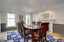 Wood burning fireplace graces the formal dining rm - 2008 ROUNDHOUSE RD, VIENNA