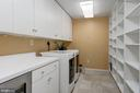 HUGE  laundry rm  w/ cabinets & built ins - 2008 ROUNDHOUSE RD, VIENNA
