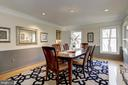 Dining room located off  foyer & opens to kitchen - 2008 ROUNDHOUSE RD, VIENNA