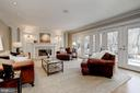 Wall of french doors fills the LR w/ natural light - 2008 ROUNDHOUSE RD, VIENNA