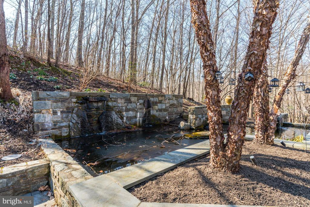 Custom pond & water fountain  surrounded by nature - 2008 ROUNDHOUSE RD, VIENNA