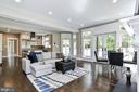 Indirect light fills the Great Room/Kitchen area - 5601 WILLIAMSBURG BLVD, ARLINGTON