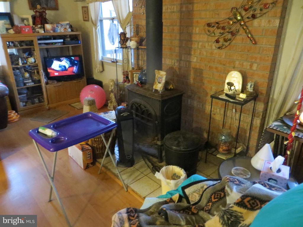 Wood Stove of great room - 535 MONTICELLO CIR, LOCUST GROVE