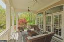 Rear Covered Veranda- Perfect for Entertaining - 1006 BRYAN POND COURT, MCLEAN