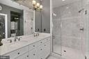 Upgraded master with double sinks & designer tile - 1148 S LINCOLN ST, ARLINGTON