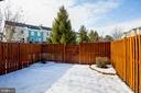 Fenced backyard - 104 MEHERRIN TER SW, LEESBURG