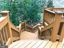 STAIRS TO LOWER DECK - 1135 ROUND PEBBLE LN, RESTON
