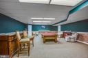Wet bar area, pool table space, dart board area. - 7411 SNOW HILL DR, SPOTSYLVANIA