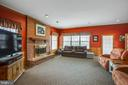 Huge family room with wood fireplace. - 7411 SNOW HILL DR, SPOTSYLVANIA