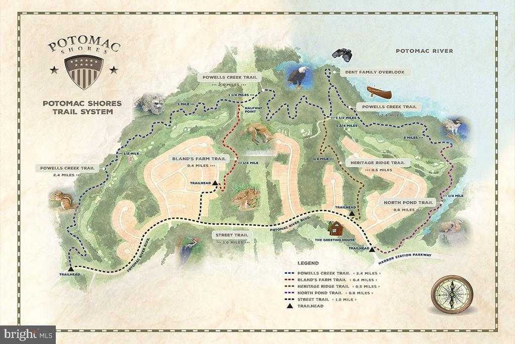Trail Map (partial) - 2565 PASSIONFLOWER CT, DUMFRIES