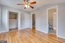 Bedroom 3 with walk in closet, dual entry bathroom - 10321 WOOD RD, FAIRFAX