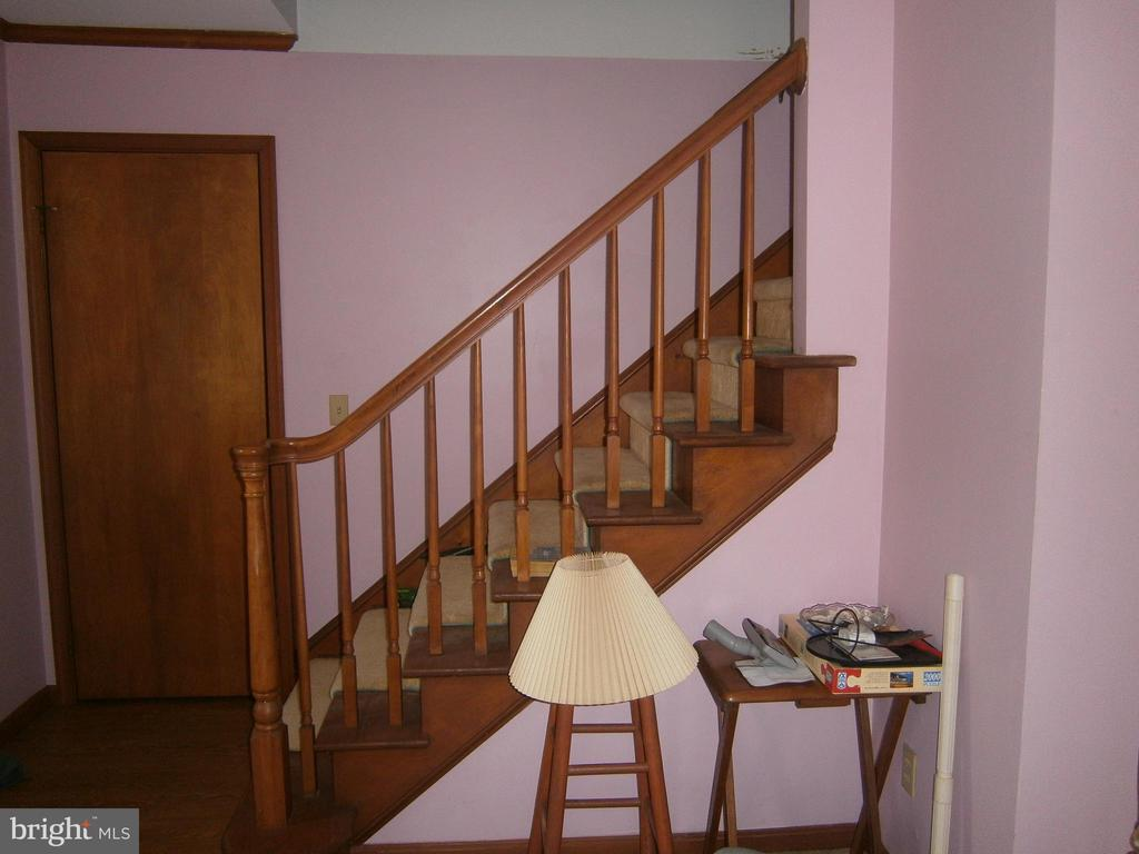 stairwell to unfinished upper level - 179 BACK CREEK RD, SWEDESBORO