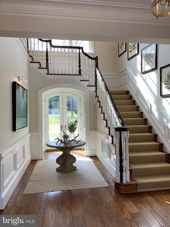 Elegant foyer with doors to patoi - 7301 DULANY DR, MCLEAN
