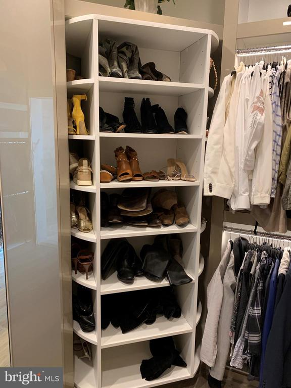 4 sided rotating shoe racks easily holds 56 pairs - 7301 DULANY DR, MCLEAN