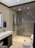 Clean, elegant steam shower - 7301 DULANY DR, MCLEAN