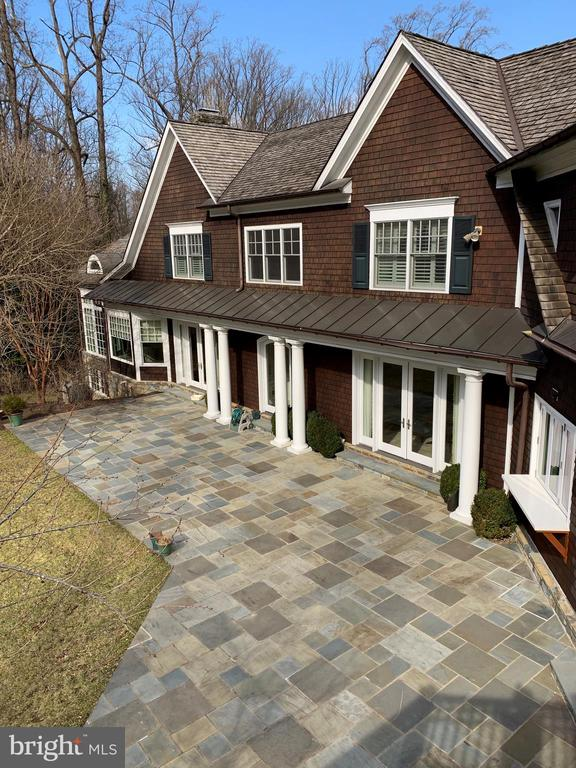 View of patio from master deck - 7301 DULANY DR, MCLEAN
