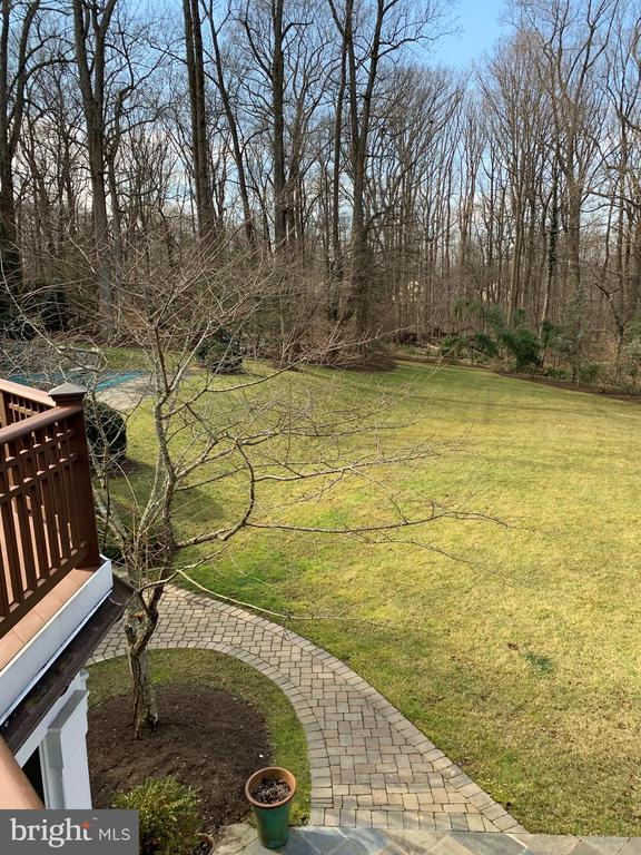 View of yard from master deck - 7301 DULANY DR, MCLEAN
