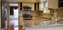 Kitchen with Granite Counter Tops - 8911 GLADE HILL RD, FAIRFAX