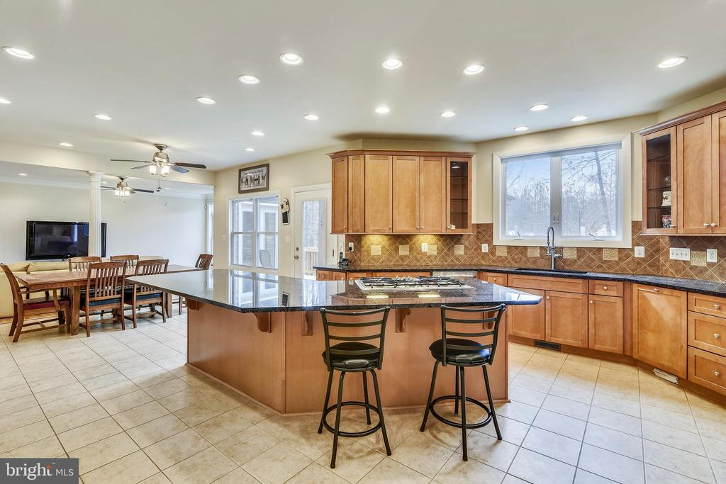 Chef's Kitchen has bright recessed lighting. - 3446 VALEWOOD DR, OAKTON