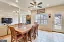 Breakfast Room open to Rear Deck. - 3446 VALEWOOD DR, OAKTON