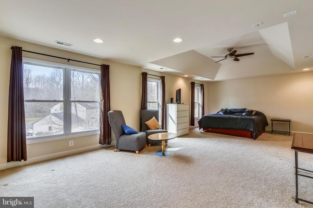 Master Bedroom has ample room for a sitting area. - 3446 VALEWOOD DR, OAKTON