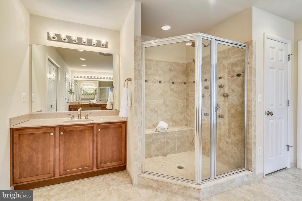 Master Bath Shower w/multi shower head system. - 3446 VALEWOOD DR, OAKTON