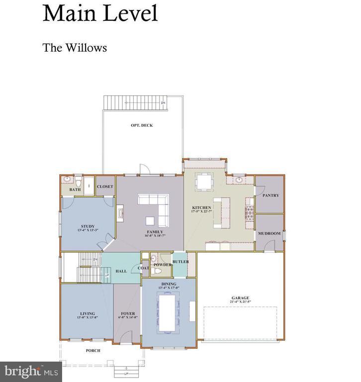 Main Lvl Floor Plan - 7017 WOODLAND DR, SPRINGFIELD