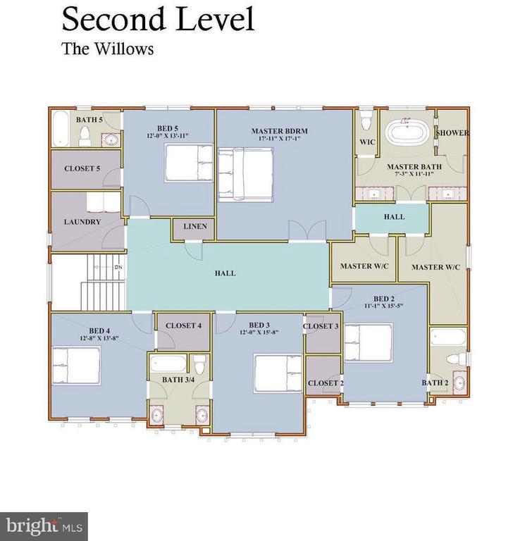 Upper Lvl Floor Plan - 7017 WOODLAND DR, SPRINGFIELD