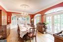 Dining room opens to deck for brandy & cigars. - 3013 N DICKERSON ST, ARLINGTON