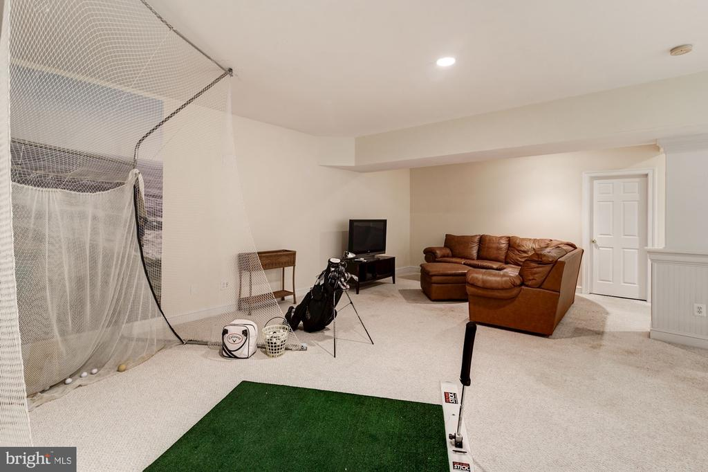 Tall ceilings allow indoor golf hitting net - 3013 N DICKERSON ST, ARLINGTON