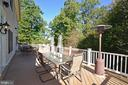Expansive deck across entire back of house - 12794 YATES FORD ROAD, CLIFTON