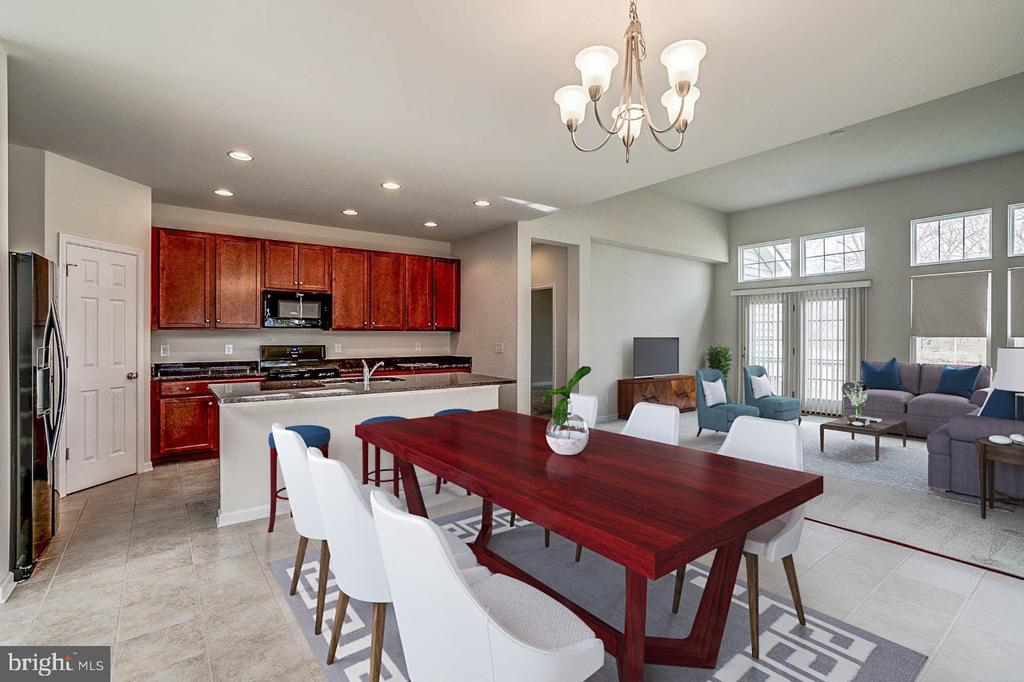 Another view of Kitchen-Family room with furniture - 42316 GRAHAMS STABLE SQ, ASHBURN