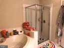 Master Bath Glass Framed  Shower - 133 EVERGREEN CT, MOUNT ROYAL