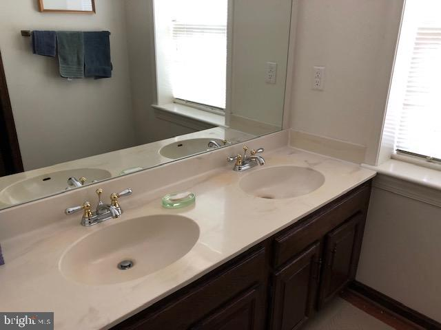Double sink in bath - 10300 YELLOW PINE DR, VIENNA