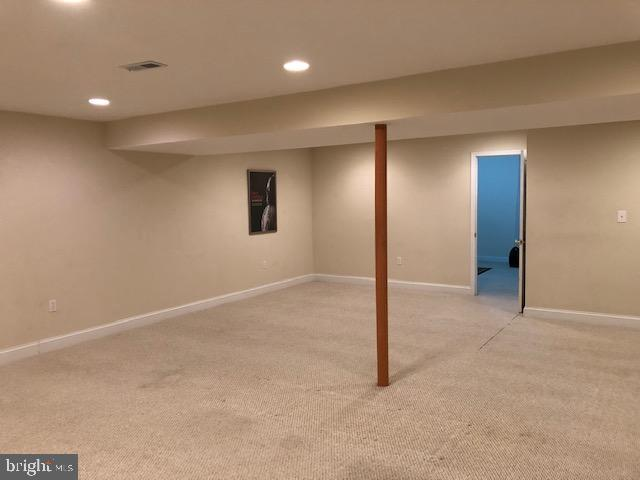 Large finished Rec Room on LL - 10300 YELLOW PINE DR, VIENNA