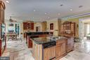 Bright,  open kitchen with 2 islands - 7984 GEORGETOWN PIKE, MCLEAN
