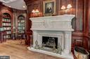 Fabulous fireplace mantle in library - 7984 GEORGETOWN PIKE, MCLEAN