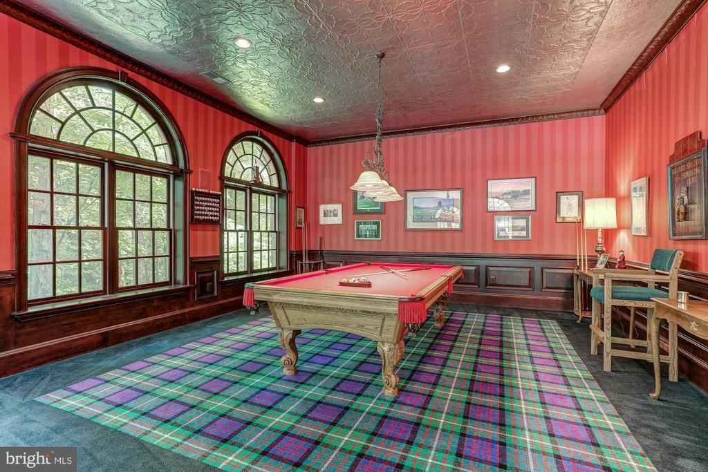 Billiard area with hammered tin ceilings - 7984 GEORGETOWN PIKE, MCLEAN