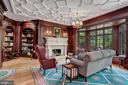 Gorgeous library with custom fireplace mantle - 7984 GEORGETOWN PIKE, MCLEAN